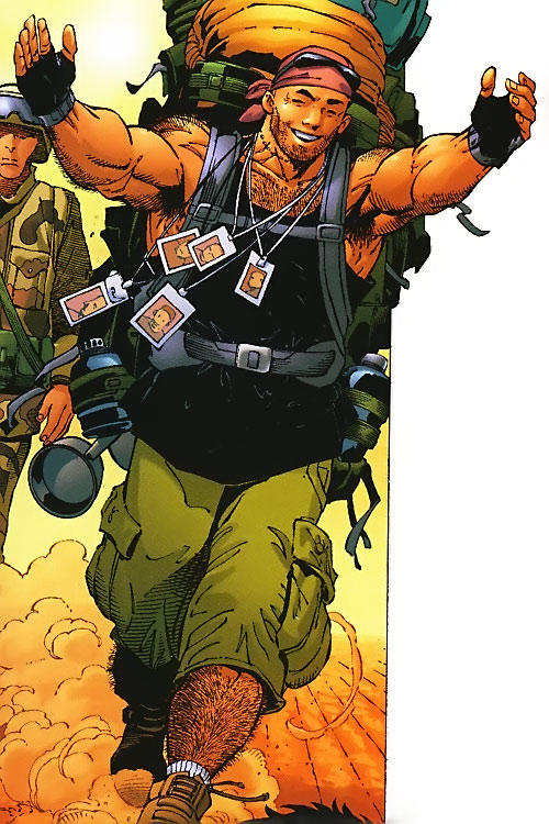 Ben Grimm (Ultimate Marvel Comics) as a backpacker