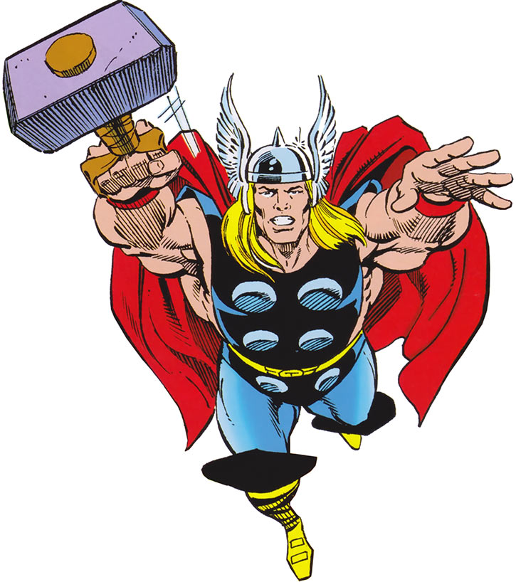 Thor (Marvel Comics) from the cover of the 1980s Deluxe handbook
