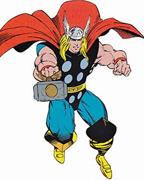 Thor (Marvel Comics) flying hammer first