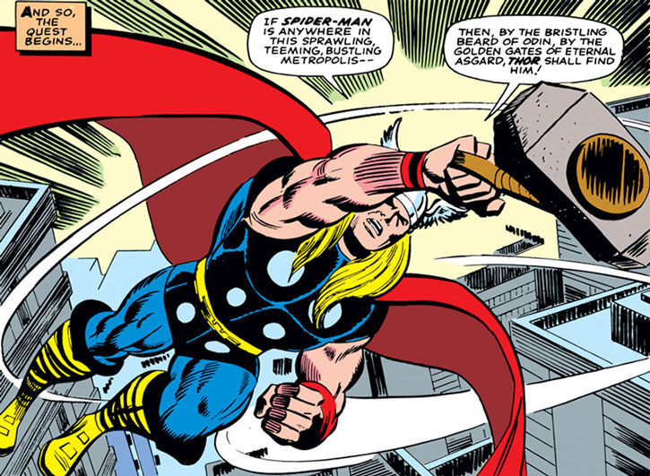 Vintage Thor comic book art