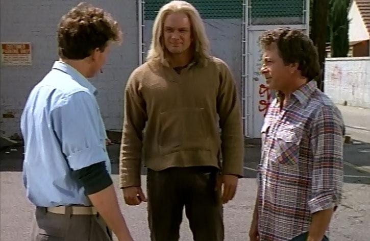 Thor (Eric Kramer) and Bruce Banner (Bill Bixby)