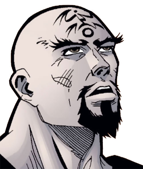 Thuggee fighter (Spoiler enemy) (DC Comics) face closeup