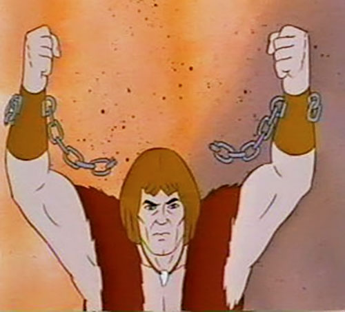 Thundarr the Barbarian breaking his chains
