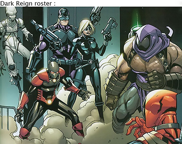 Thunderbolts roster during Dark Reign