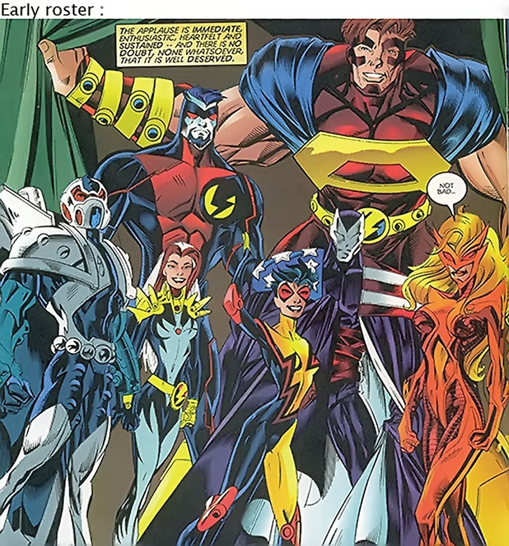 Early Thunderbolts roster with Jolt