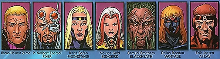 The LIberator-era Thunderbolts roster