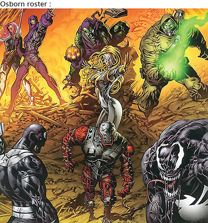 The Thunderbolts' roster under Norman Osborn's command
