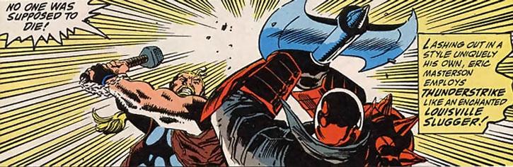 Thunderstrike (Eric Masterson) vs. Bloodaxe