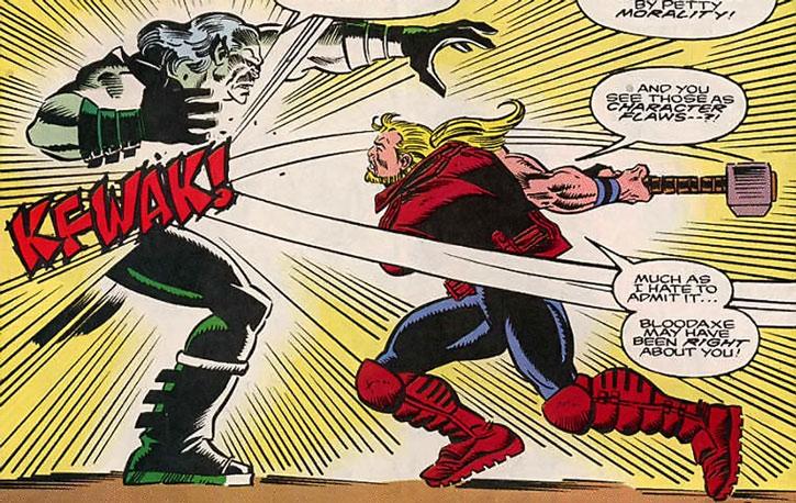 Thunderstrike (Eric Masterson) in battle
