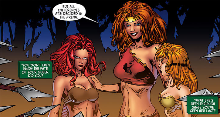Thundra with Medusa and Crystal