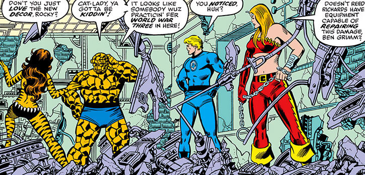 Thundra and the Fantastic Four by George Perez