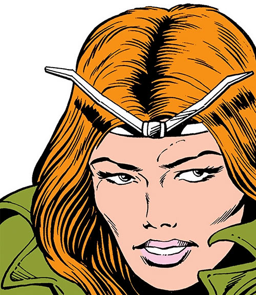 Thundra (Marvel Comics) looking a bit sad