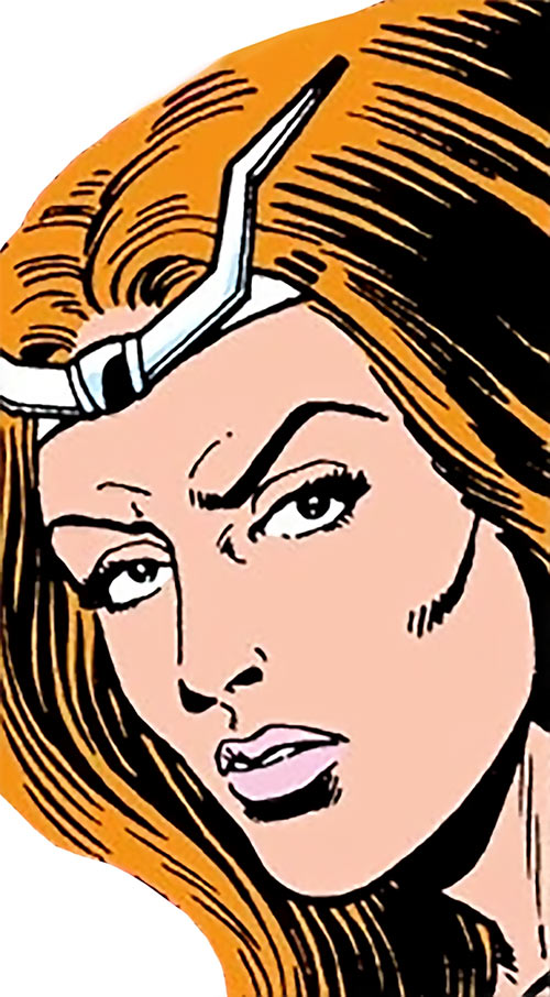 Thundra (Marvel Comics) face closeup