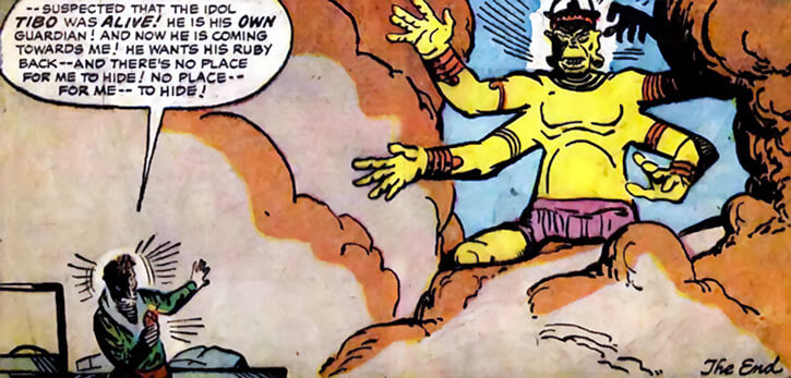Tibo the idol (early Marvel Comics) end scene