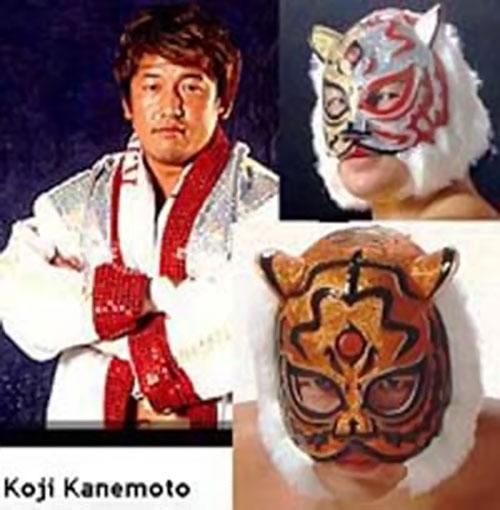 Koji Kanemoto, the third Tiger Mask Japanese wrestler