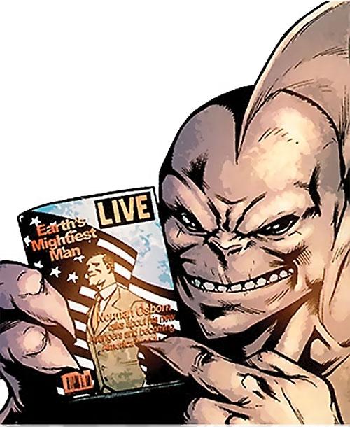 Tiger Shark (Namor enemy) (Marvel Comics) (Modern) holding a magazine