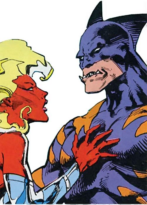 Tiger Shark (Namor enemy) (Marvel Comics) (Modern) discussing with Tamara Rahn