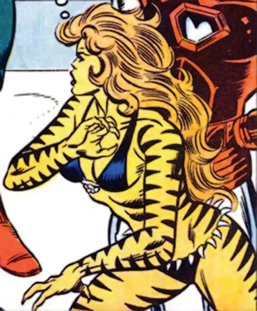 Tigra of the Avengers West Coast (Marvel Comics) and Iron Man