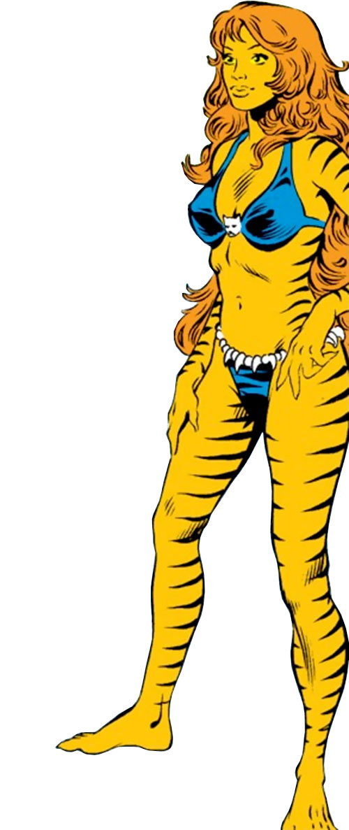Tigra of the Avengers West Coast (Marvel Comics) standing around