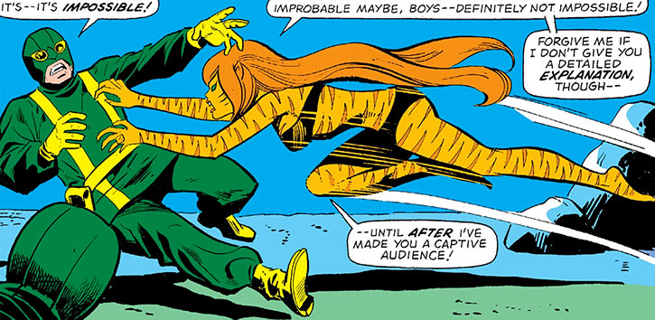 Tigra (Greer Nelson) vs. Hydra agents