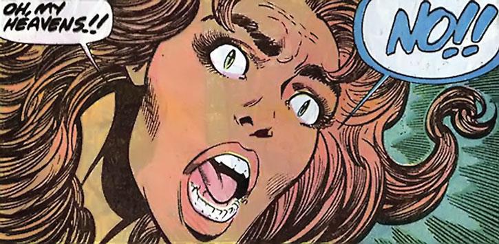 Tigra (Greer Nelson) shocked