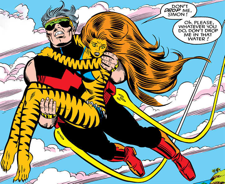 Tigra (Greer Nelson) and Wonder Man
