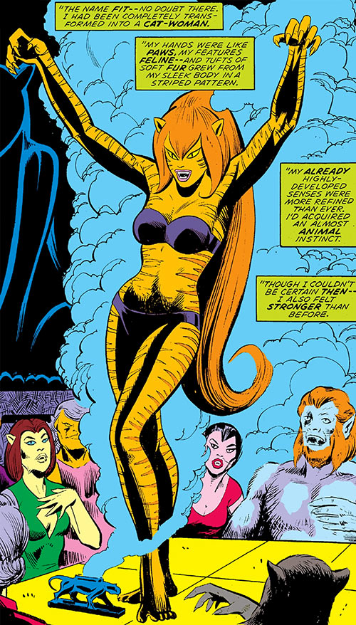 Tigra (Marvel Comics) (Early version) arising after her transformation