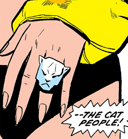 Tigra (Marvel Comics) (Early version) closeup cat people ring