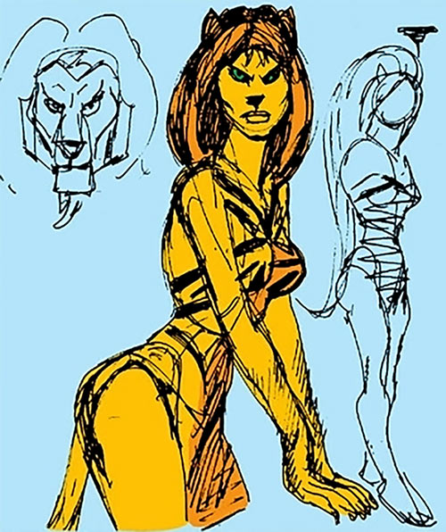 Tigra (Marvel Comics) (Early version) concept art
