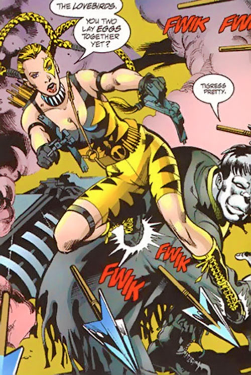 Tigress of the Injustice Society (Crock) (JSA enemy) (DC Comics) with Solomon Grundy
