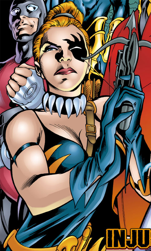 Tigress of the Injustice Society (Crock) (JSA enemy) (DC Comics) with Geomancer
