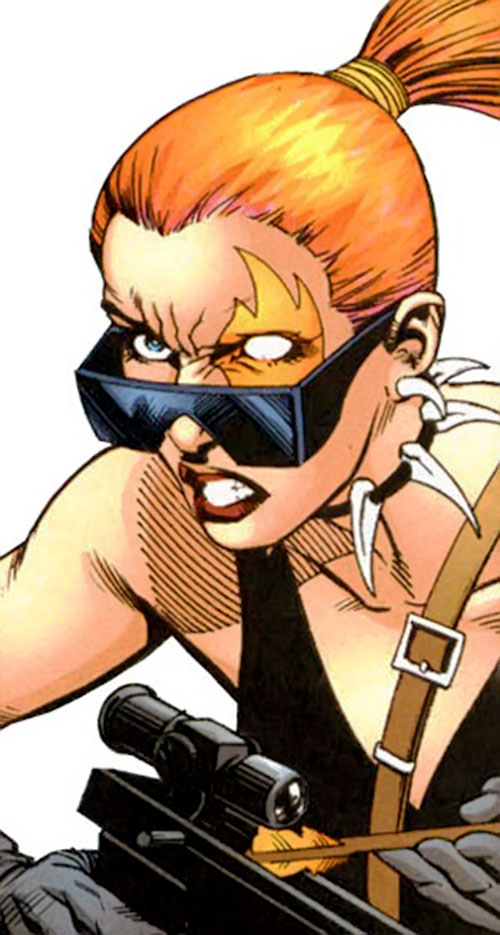 Tigress of the Injustice Society (Crock) (JSA enemy) (DC Comics) face closeup