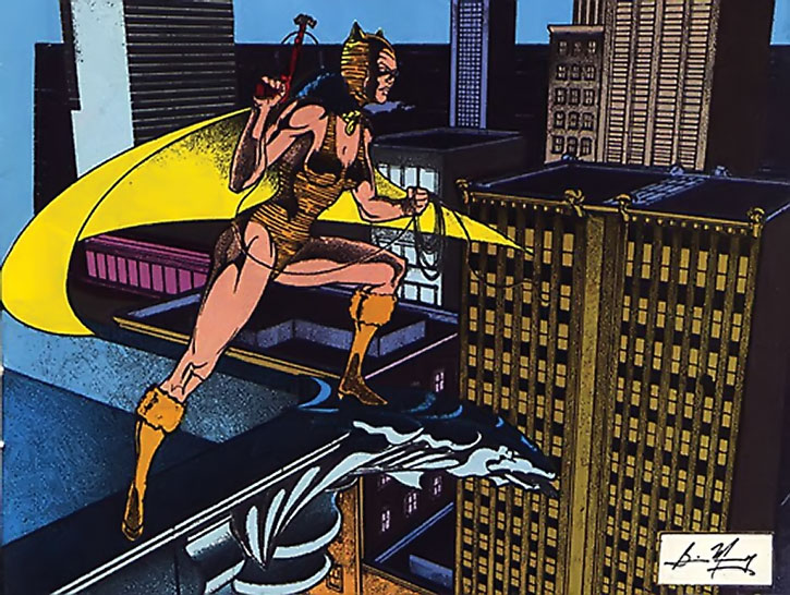 The Tigress (Paula Brooks) on a rooftop