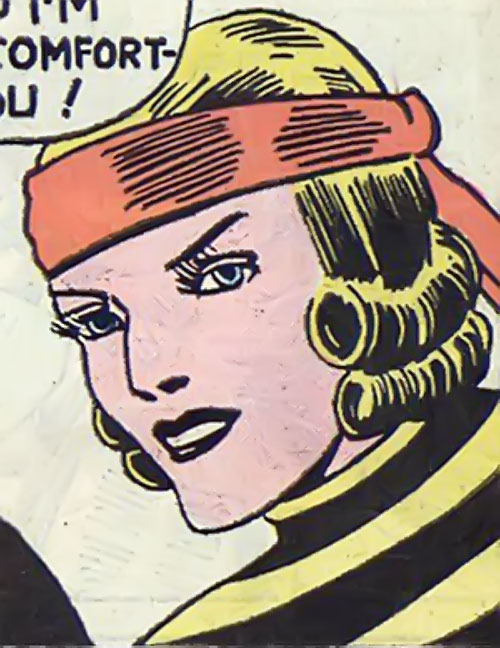 Tigress (Zatara character) (DC Comics Golden Age) face closeup with red headband