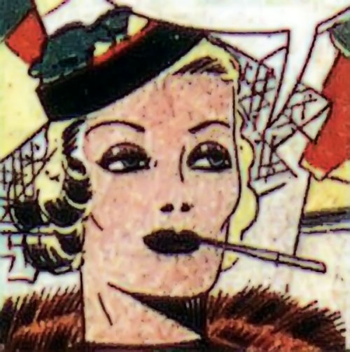 Tigress (Zatara character) (DC Comics Golden Age) smoking and wearing a hat