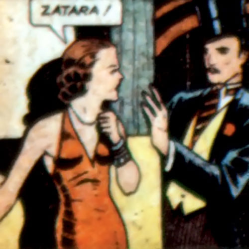 Tigress (Zatara character) (DC Comics Golden Age) stumbling upon the magician