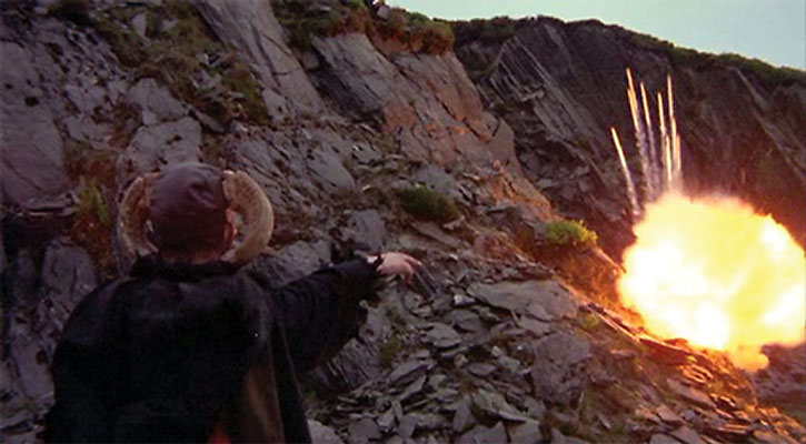 Tim the Enchanter triggers an explosion
