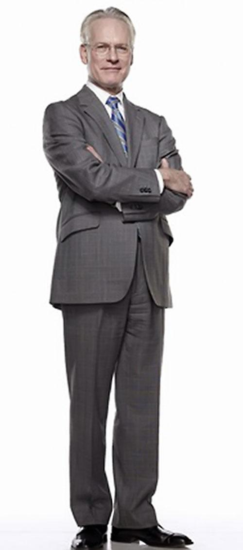 Tim Gunn in a grey suit