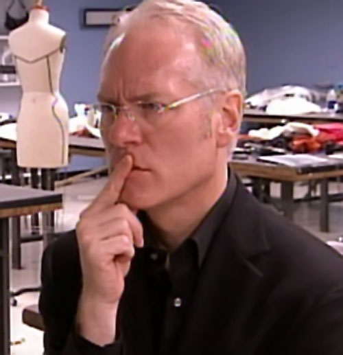 Tim Gunn photo with finger on lips