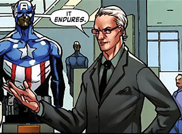 Tim Gunn and a Captain America costume