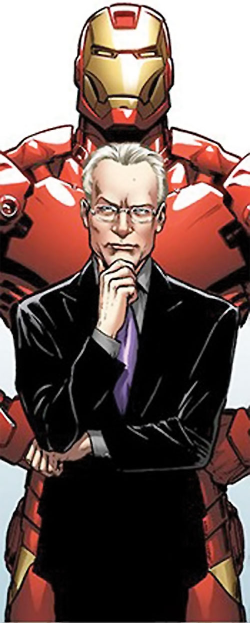 Tim Gunn (Marvel Comics appearance) and an Iron Man suit