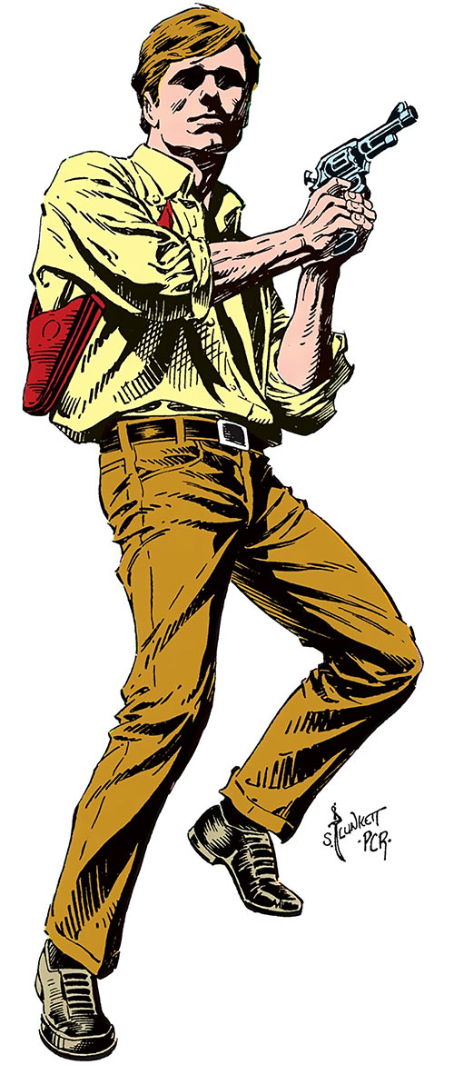 Tim Trench (DC Comics) by Plunkett in the Who's Who