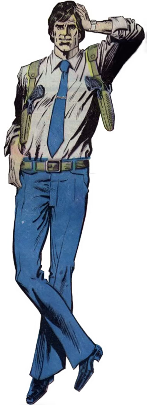 Tim Trench (DC Comics) as a younger man