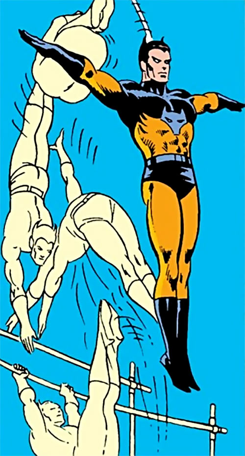 Timber Wolf (Legion of Super-Heroes) performing acrobatics