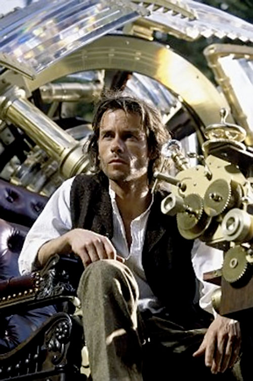 The Time Traveller (Guy Pearce) in his time machine