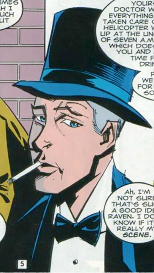 Timothy Ravenwind (Swamp Thing character) (DC Comics) with a top hat