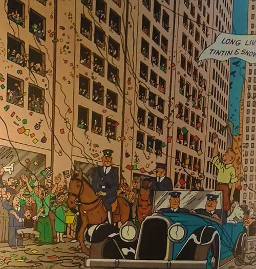 Tintin's American parade