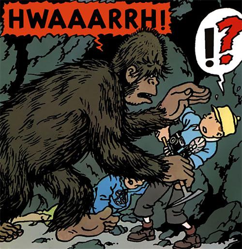 Tintin and the yeti