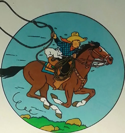Tintin as a cowboy