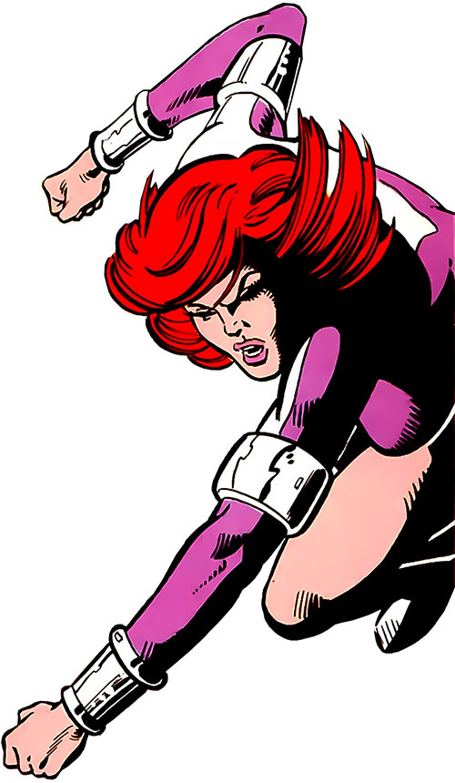 Titania of the League of Super-Assassins (LSH DC Comics) fighting